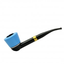 FALCON blue pipe: international curved stem with blue algiers bowl