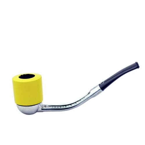 FALCON yellow pipe: standard bent stem with dublin bowl