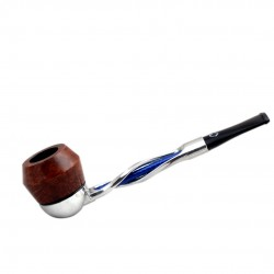 FALCON pipe: twisted blue stem with bulldog bowl