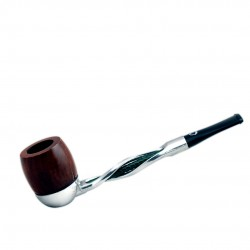 FALCON pipe: twisted green stem with billiard bowl
