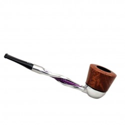 FALCON pipe: twisted purple stem with algiers bowl