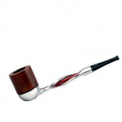 FALCON pipe: twisted red stem with dublin bowl