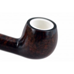 904 briar curved apple dark brown tobacco smoking pipe from Gasparini (Italy)