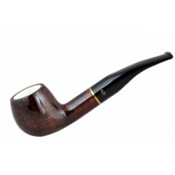 904 briar apple dark brown tobacco smoking pipe from Gasparini (Italy)