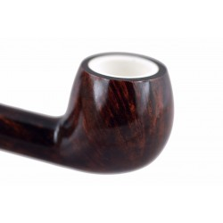 904 briar apple brown tobacco smoking pipe from Gasparini (Italy)