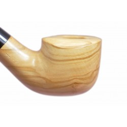 ULIVO olive tree bent pot tobacco smoking pipe from Gasparini (Italy)