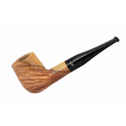 ULIVO olive tree straight billiard tobacco smoking pipe from Gasparini (Italy)