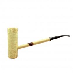 MacArthur classic polished bent corn cob pipe (Missouri Meerschaum)