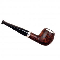 ORANGE Briar straight apple meerschaum lined tobacco smoking pipe from Gasparini (Italy)