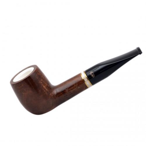 AMBASADOR briar straight billiard meerschaum lined brown tobacco smoking pipe (Gasparini, Italy)