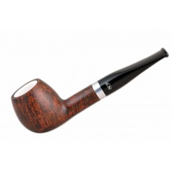 ORANGE Briar straight apple meerschaum lined tobacco smoking pipe from Gasparini (Italy)