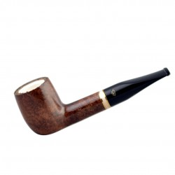 AMBASSADOR straight billiard meerschaum lined pipe