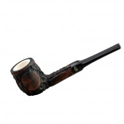 Brown straight lovat meerschaum lined pipe