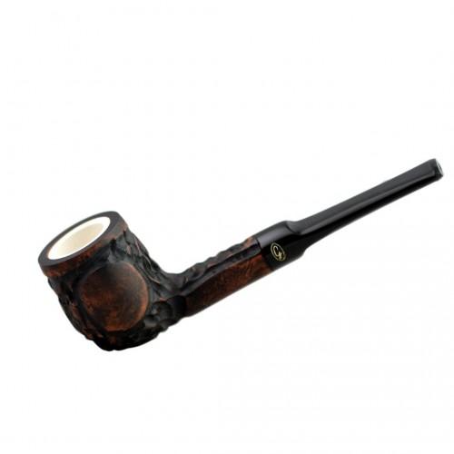 Brown straight lovat meerschaum lined pipe