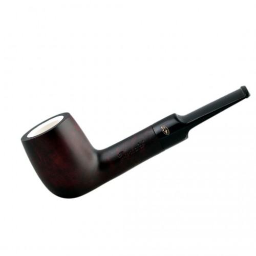 Straight billiard meerschaum lined pipe