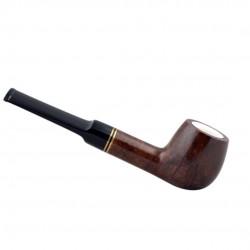 Straight apple meerschaum lined pipe
