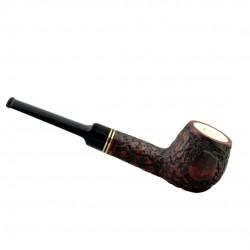 Straight apple meerschaum lined rustic pipe