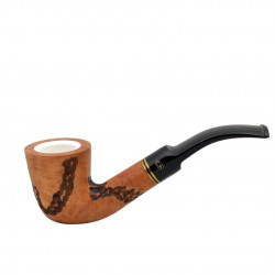 Carved orange dublin meerschaum lined pipe