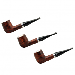 ORANGE billiard briar pipe