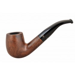 BRISTOL briar bent billiard dark brown tobacco smoking pipe from Gasparini (Italy)
