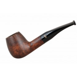 BRISTOL briar curved brandy dark brown tobacco smoking pipe from Gasparini (Italy)