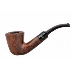 BRISTOL briar dublin dark brown tobacco smoking pipe with saddle stem from Gasparini (Italy)