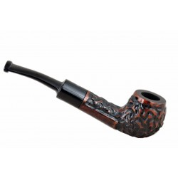 MAXIM DOMINO petite briar rustic red pocket size tobacco smoking pipe from Gasparini (Italy)