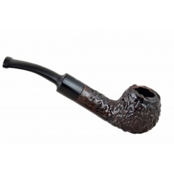 MAXIM DOMINO petite briar rustic pocket size tobacco smoking pipe from Gasparini (Italy) 01