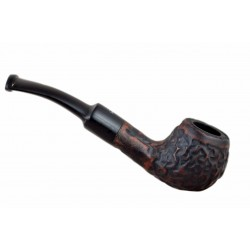 MAXIM DOMINO petite briar rustic matt pocket size tobacco smoking pipe from Gasparini (Italy) 02