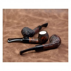 DOMINO meerschaum lined brown mini pipe