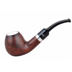 ORANGE Briar egg dark brown meerschaum lined tobacco smoking pipe from Gasparini (Italy)