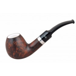 ORANGE Briar egg dark brown meerschaum lined tobacco smoking pipe from Gasparini (Italy) 04