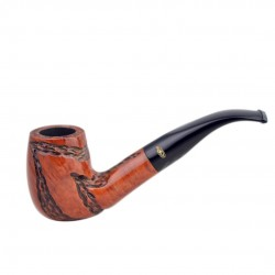 JOLLY carved bent billiard pipe