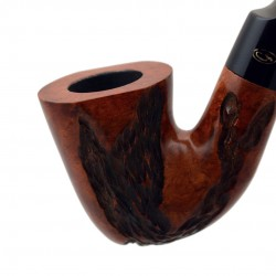 JOLLY briar carved dublin brown tobacco smoking pipe from Gasparini (Italy)