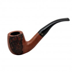 JOLLY briar bent billiard carved tobacco smoking pipe from Gasparini (Italy)