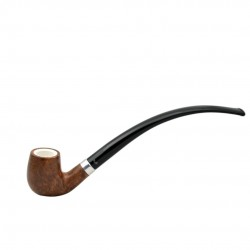 KENT long bent billiard pipe with two stems