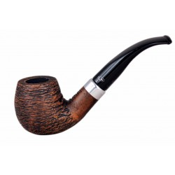 KENT RUSTIC Briar bent brandy brown rustic tobacco smoking pipe from Gasparini (Italy)