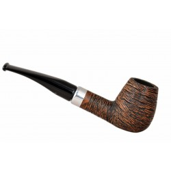 KENT RUSTIC Briar straight brandy brown rustic tobacco smoking pipe from Gasparini (Italy)
