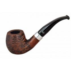 KENT RUSTIC Briar bent brandy rustic tobacco smoking pipe from Gasparini (Italy)