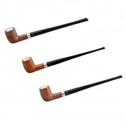 KENT long light brown billiard pipe with two stems