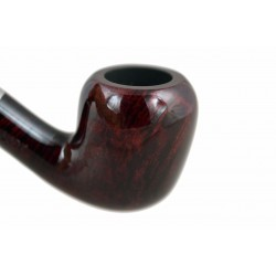 LADY elegant lightweight dark red bent acorn tobacco smoking pipe from Gasparini (Italy)