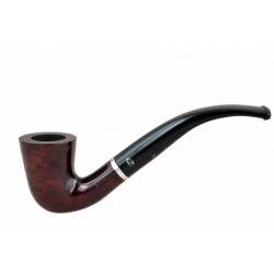 LADY elegant lightweight dark red bent dublin tobacco smoking pipe from Gasparini (Italy)