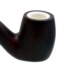 Dark red matt meerschaum lined standing pipe