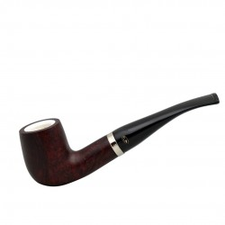 Bent billiard dark red pipe