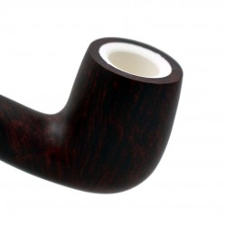 Bent billiard dark red pipe
