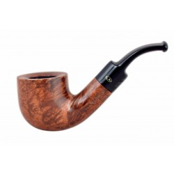 MIGNON petite brown briar pocket size bent pot tobacco smoking pipe from Gasparini (Italy)