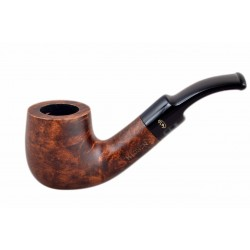 MIGNON petite brown briar pocket size bent billiard tobacco smoking pipe from Gasparini (Italy)