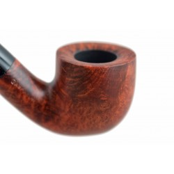 MIGNON petite briar orange pocket size bent pot tobacco smoking pipe from Gasparini (Italy)
