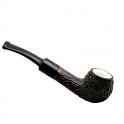 DOMINO meerschaum lined brown mini pipe