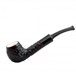 DOMINO meerschaum lined dark red mini pipe